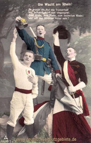 Die Wacht am Rhein, Soldat, Turner und Student
