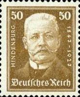 Hindenburg, 1927 ,50 Pfennig