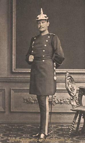 Hindenburg als Hauptmann im Generalstab Stettin 1878