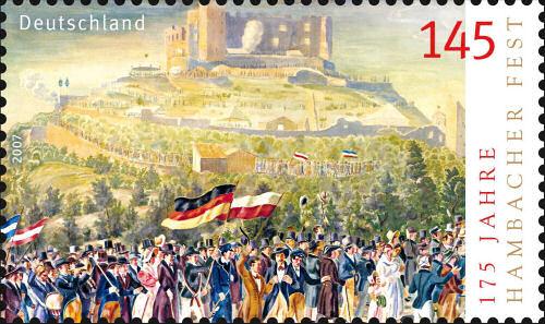 Hambacher Fest, Sondermarke Deutschland 2007