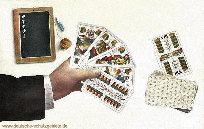 Skatspiel, deutsches Blatt