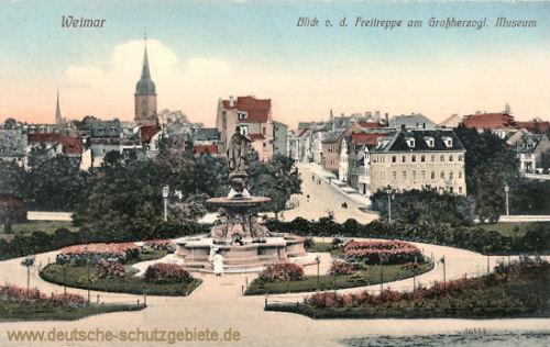 Weimar, Blick von der Freitreppe am Großherzoglichem Museum