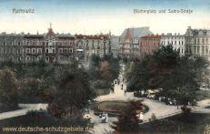 Kattowitz, Blücherplatz und Sachs-Straße