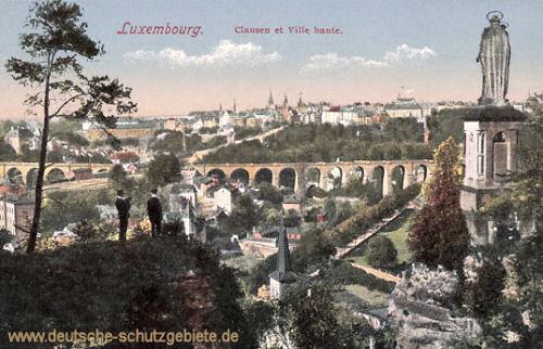 Luxemburg, Clausen et Ville haute