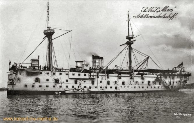 S.M.S. Mars, Artillerieschulschiff