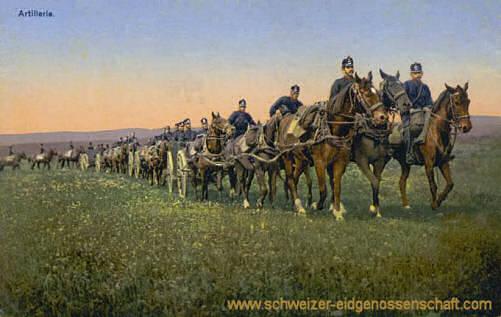 Schweizer Armee, Artillerie