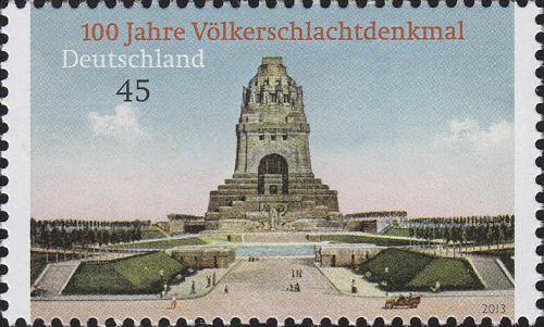 100 Jahre Völkerschlachtdenkmal, Briefmarke Deutschland 2013