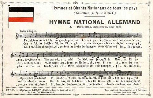 Hymne National Allemand