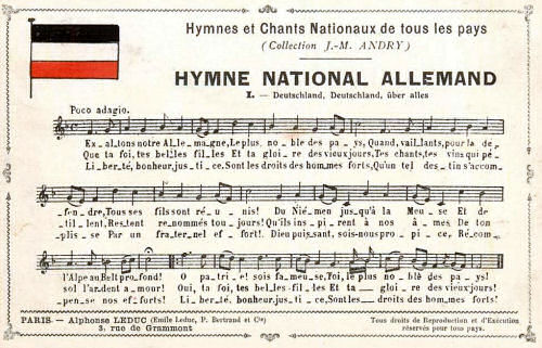Hymne National Allemand