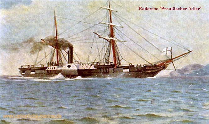 S.M.S. Preußischer Adler, Radaviso