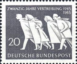 Zwanzig Jahre Vertreibung, Deutsche Bundespost 1965