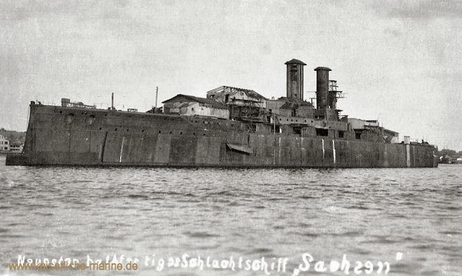 S.M.S. Sachsen, Linienschiff