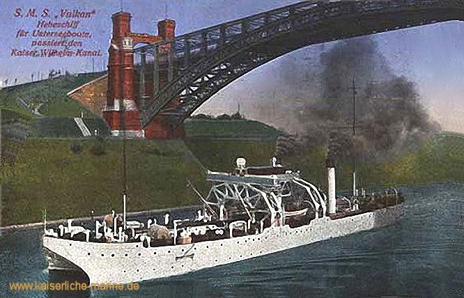 S.M.S. Vulcan, Dock- und Hebeschiff