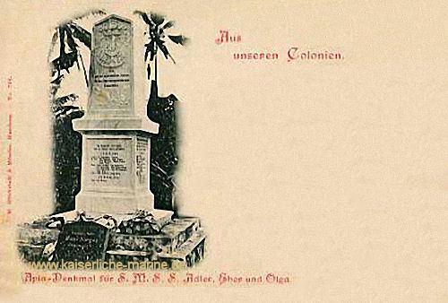 Apia-Denkmal für S.M.S. Adler, S.M.S. Eber und S.M.S. Olga auf Samoa