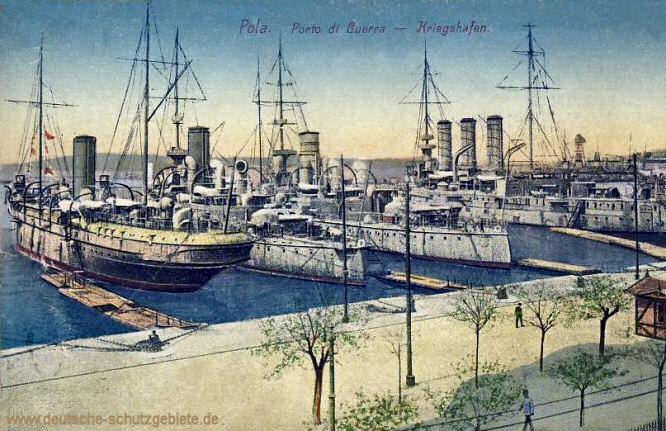 Pola, Kriegshafen der k. u. k. Kriegsmarine