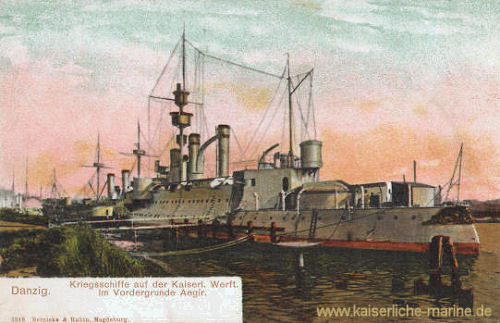 S.M.S. Aegir - Kriegsschiffe auf der Kaiserlichen Wert Danzig