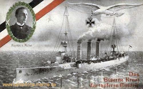 """S.M.S. Emden, """"Das Eiserne Kreuz der Tapferen Emden"""""""