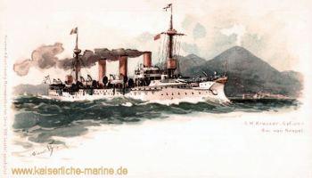 S.M.S. Gefion vor Neapel