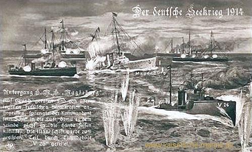 Der Seekrieg 1914 - Untergang S.M.S. Magdeburg