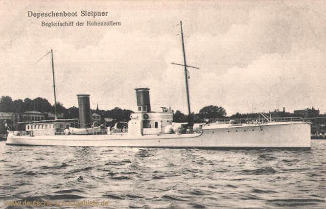 Depeschenboot Sleipner, Begleitschiff der Hohenzollern