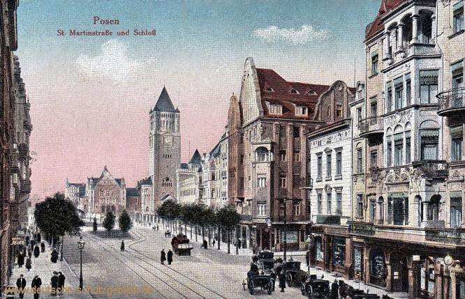 Posen, St. Marienstraße und Schloss