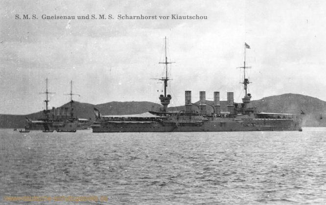 S.M.S. Gneisenau und S.M.S. Scharnhorst vor Kiautschou