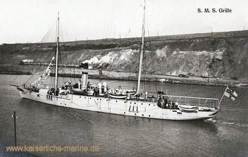 S.M.S. Grille (nach dem Umbau) im Kaiser Wilhelm-Kanal