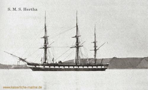 S.M.S. Hertha, Gedeckte Korvette, 1864