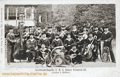 Geschwaderkapelle S.M.S. Kaiser Friedrich III. - (Leiter G. Richter) 1908