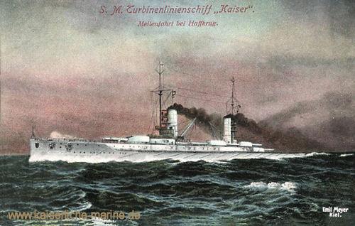 S.M.S. Kaiser, Meilenfahrt bei Haffkrug