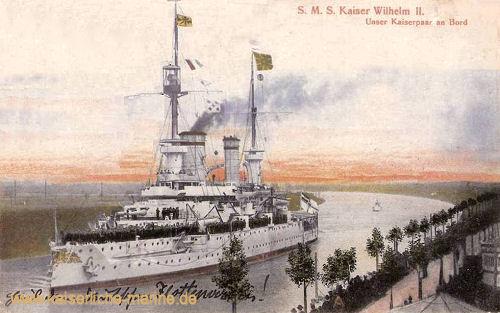 S.M.S. Kaiser Wilhelm II., Unser Kaiserpaar an Bord