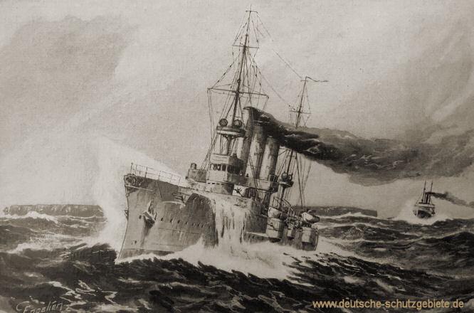 S.M.S. Königsberg und Kohlendampfer Somali