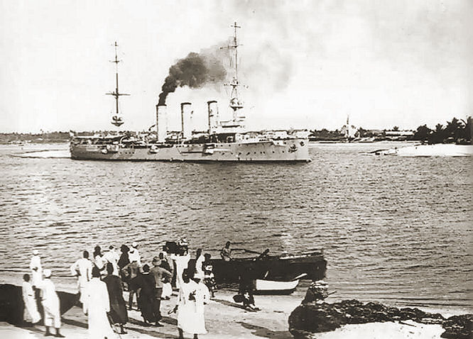 S.M.S. Königsberg vor Daressalam