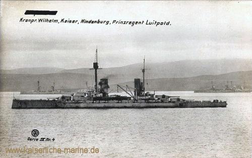 S.M.S. Kronprinz, Kaiser, Hindenburg, Prinzregent in Scapa Flow