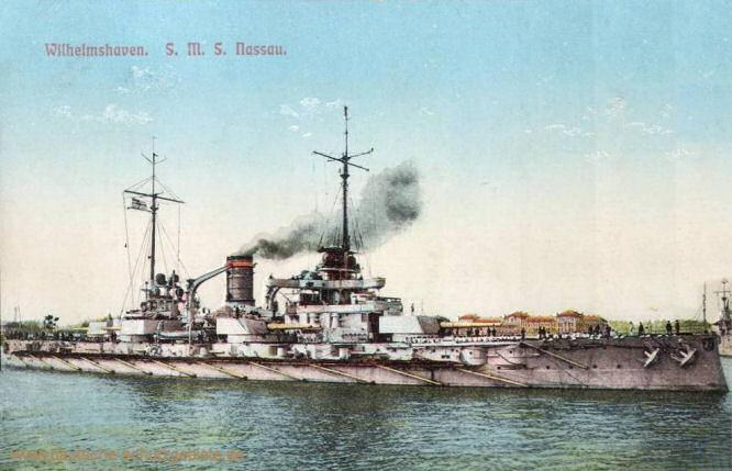 S.M.S. Nassau, Wilhelmshaven