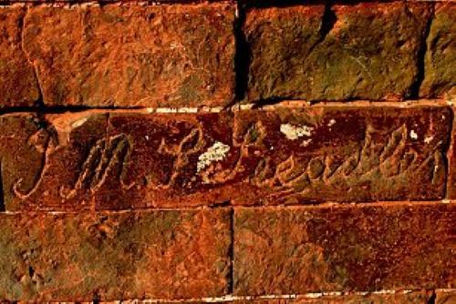 """Inschrift """"S.M.S. Seeadler"""" am Xiaoling Grab (Ming Dynastie) auf dem Zijn Berg in China © Foto (2003) mit freundlicher Genehmigung von Uwe Linke"""