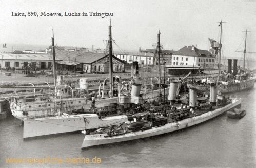 Taku, S90, Moewe, Luchs in Tsingtau