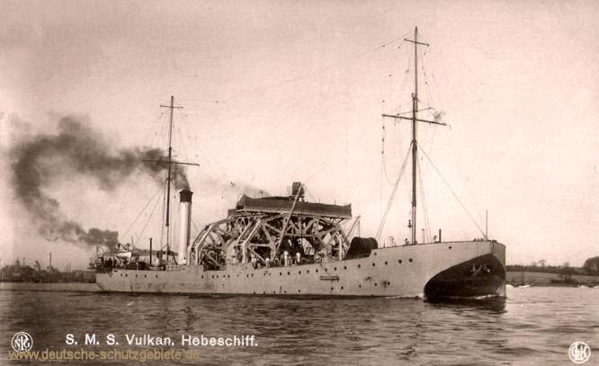 S.M.S. Vulcan, Hebeschiff