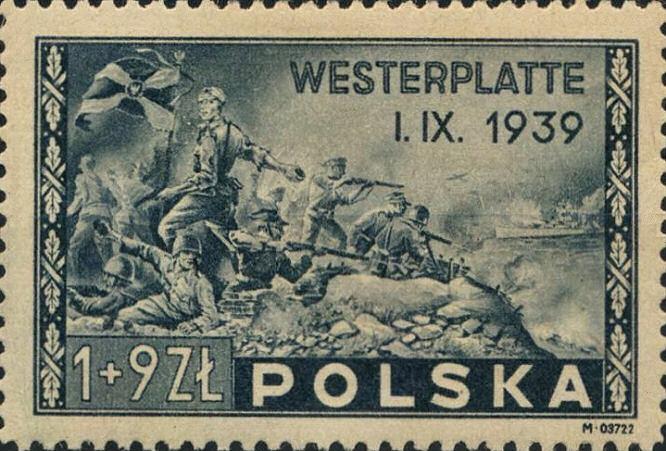 Westerplatte I. IX. 1939, Briefmarke Polen