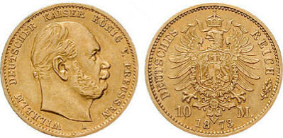 Deutsches Reich 10 Mark 1873 (Preußen)