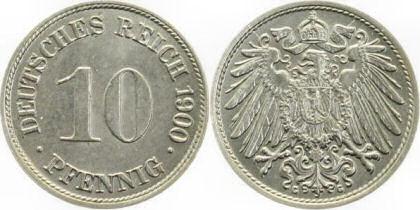 Deutsches Reich 10 Pfennig 1900