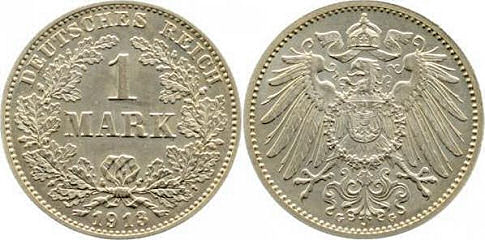 Deutsches Reich 1 Mark 1913