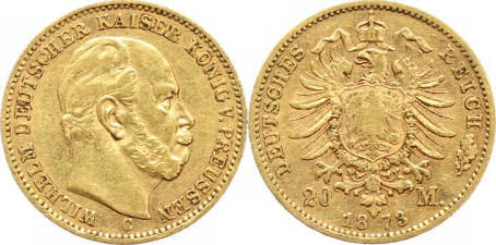 Deutsches Reich 20 Mark 1873 (Preußen)