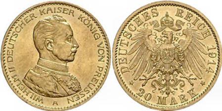 Deutsches Reich 20 Mark 1914 (Preußen)