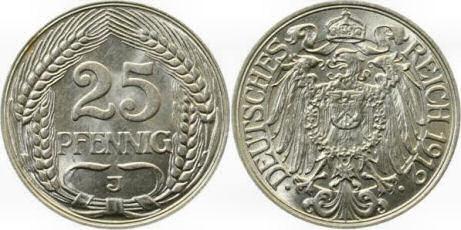 Deutsches Reich 25 Pfennig 1912