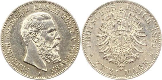 Deutsches Reich 2 Mark 1888 (Preußen)