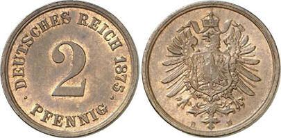 Deutsches Reich 2 Pfennig 1875