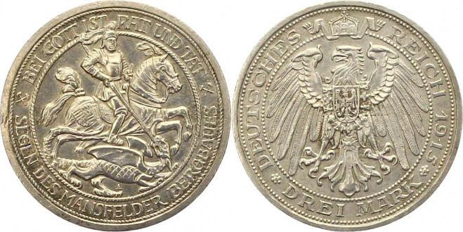 Deutsches Reich 3 Mark 1915 (Preußen)
