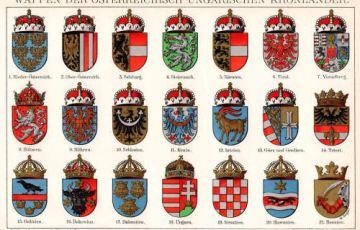 Wappen der österreichisch-ungarischen Kronländer