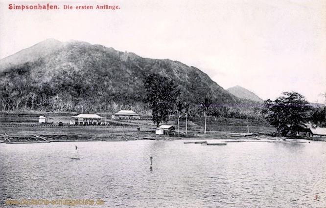 Simpsonhafen, Die ersten Anfänge